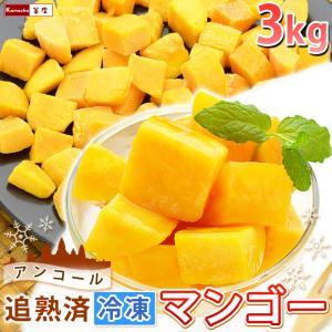 マンゴー 冷凍マンゴー 業務用 カット済み 完熟マンゴー 冷凍フルーツ 500gを6袋 計3kg 送料込み|kamasho