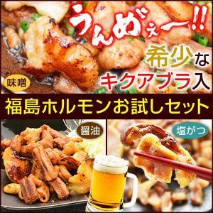 ●福島ホルモン(醤油)×2[原材料名]国産豚内臓肉(小腸,大腸,菊脂),たれ[しょうゆ(小麦を含む)...