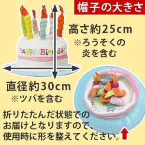 ハッピーバースデーハット (レギュラー 大人用 フリーサイズ) お誕生日会 パーティー帽子 パーティーグッズ|kamasho|02