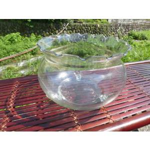 ビオトープめだか金魚飼育用 26cm波口金魚鉢