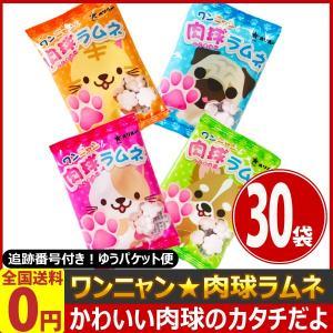 オリオン ワンニャン肉球ラムネ 1袋(9g)×30袋 ゆうパケット便 メール便 送料無料【 お菓子 駄菓子 】|kamejiro