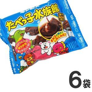 ギンビス たべっ子 水族館 1袋(30g)×6袋 業務用 訳あり ゆうパケット便 メール便 送料無料【 お菓子 駄菓子チョコレート 】|kamejiro
