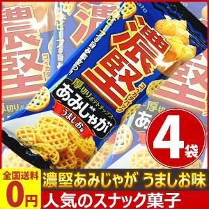 濃堅パックあみじゃがうましお味(4袋) ゆうパケット便 メール便 送料無料|kamejiro