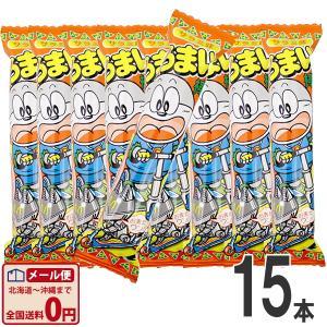 やおきん うまい棒 サラミ味 1本(6g)×15本 ゆうパケット便 メール便 送料無料|kamejiro