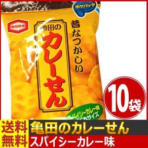 送料無料 亀田製菓 昔懐かしい!亀田のカレーせん ポケパック 1袋(35g)×10袋|kamenosuke
