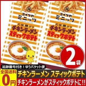 湖池屋 チキンラーメン スティックポテト 1袋(40g)×2袋 ゆうパケット便 メール便 送料無料 kamenosuke