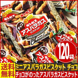 送料無料 あすつく対応 ギンビス ミニアスパラガスビスケット チョコ 1袋(28g)×120袋 チョコ お試し お菓子 詰め合わせ バラまき つかみどり|kamenosuke