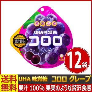 送料無料 UHA味覚糖 コロロ グレープ 1袋(48g)×12袋 kamenosuke