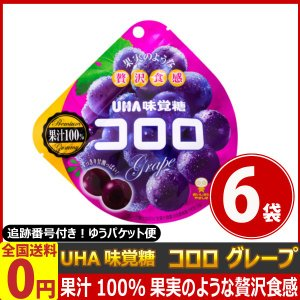 UHA味覚糖 コロロ グレープ 1袋(48g)×6袋 ゆうパケット便 メール便 送料無料|kamenosuke