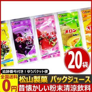 松山製菓 昔懐かしいフルーツ味のパウダージュース! 粉末パックジュース 1袋(12g)×20袋【※味は選べません】 ゆうパケット便 メール便 送料無料|kamenosuke