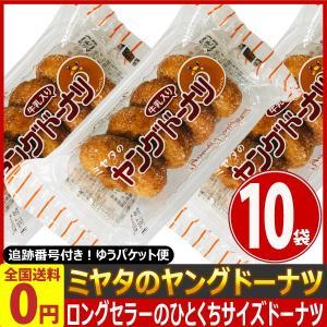 宮田製菓 ミヤタのヤングドーナツ 1袋(4個入)×10袋 ゆうパケット便 メール便 送料無料 駄菓子 ドーナツ お菓子 ポイント消化 お試し 訳あり 景品|kamenosuke