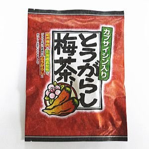 とうがらし梅茶 48g ゆうパケット便 メール便 送料無料 【 お菓子 駄菓子 2018 チョコレート 】|kamenosuke