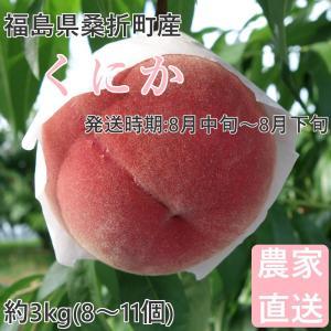 品種  :くにか 大玉の桃で、人気品種「川中島白桃」によく似た食味。 内容量 :約3kg(8〜11個...
