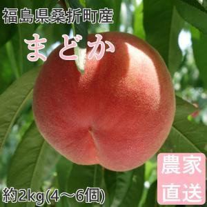 品種  :まどか 福島の桃を代表する品種「あかつき」から、大玉を選抜した品種。硬め。 内容量 :約2...