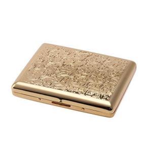 坪田パール(Tsubota Pearl) 喫煙具 ゴールドアラベスク 10.6×9×3cm カジュアルメタル20本(100mm) シガレットケース 1 kameshop