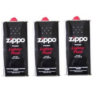 ZIPPO(ジッポー) Zippo オイル缶 【大缶355ml】 3本セット kameshop
