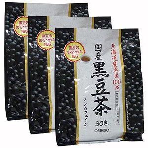 国産黒豆茶100%【3袋セット】オリヒロ|kameshop