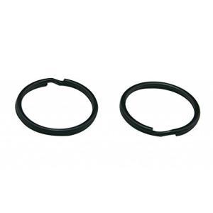 黒 1.2インチ(3センチ) キーリングチェーン 分割リング 30パック kameshop