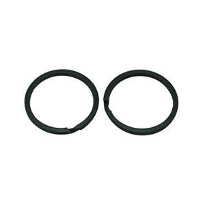 黒 1.2インチ(3センチ) フラットキーリングチェーン 分割リング 30パック kameshop