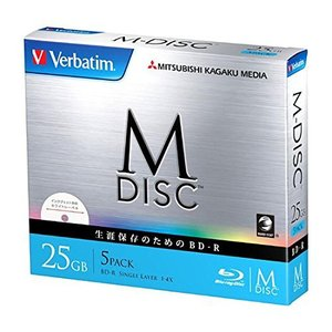 Verbatim データ用ブルーレイM-DISC1回記録 25GB 5mmケース5P|kameshop