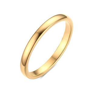 Rockyu ブランド 人気 タングステン リング 14号 メンズ指輪 ゴールド 2mm シンプル 耐久|kameshop