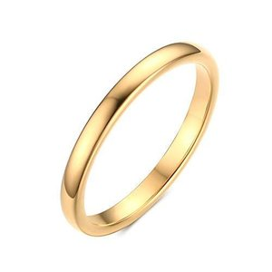 Rockyu ブランド 指輪 レディース シンプル リング タングステン メンズ おしゃれ 18 細身 指輪 ゴールド 2mm 恋人 人気 プレセント|kameshop