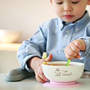 赤ちゃん 食器 吸盤 ひっくり返らない 人気 滑り止め付 お皿 電子レンジ食洗器対応 日本製 ベビー マンチートボウル 離乳食 セット シリコン お祝 kameshop