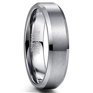 [Vakki(ヴァッキ)] 指輪 メンズ タングステン リング 平打ち マッド質感 つや消し 大きいサイズ シンプル ファッション 金属アレルギー対応|kameshop