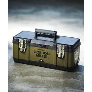 GORDON MILLER ツールボックス 390 (W390×H170×D185) キャンプ スチール 大型 取っ手付 トレー付 丈夫 工具 釣り|kameshop