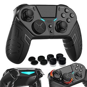 【FPSゲーム強化&プログラミング機能】無線 PS4コントローラー スマホコントローラー 背面ボタン付き 6軸ジャイロセンサー 連射 二重振動 重力感|kameshop