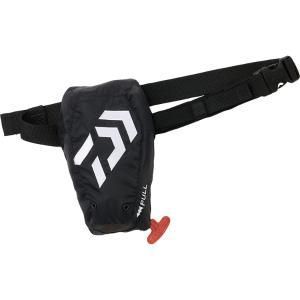 ダイワ  ウォッシャブルライフポーチ DF-2321 フリー ブラック ポーチタイプ自動・手動膨脹式 TYPE-A 承認品 [90] かめや釣具