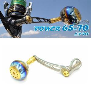 LIVRE リブレ カスタムハンドル オフショア ジギング パワーノブ POWER65-70 チタン+ゴールド シマノ右巻き専用|kameya-ec1