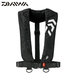DAIWA/ダイワ 18 インフレータブルライフジャケット DF-2608 (肩掛けタイプ手動・自動膨脹式) ブラック|kameya-ec1