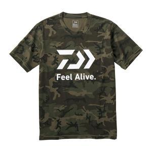 DAIWA ダイワ 2019SS DE-83009 ショートスリーブ FEEL Alive. Tシャツ M グリーンカモ|kameya-ec1