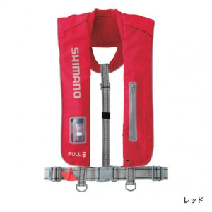 SHIMANO シマノ ラフトエアジャケット VF-051K 膨張式救命具 レッド|kameya-ec1