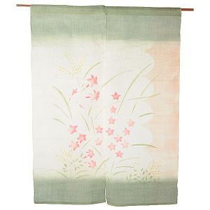 のれん 暖簾 おしゃれ 和風 ロング 麻 夏用 のれん 90×120cm ススキ|kameya