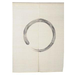 のれん 暖簾 おしゃれ 和風 ロング 麻 夏用 のれん 90×120cm まる 生成り|kameya