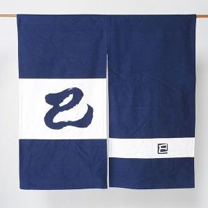 のれん 暖簾 和風 モダン 干支のれん 巳年 85×85cm 紺 蛇 2013|kameya