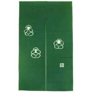 のれん 暖簾 和風 ロング 2016 申年 干支のれん 85×140cm グリーン 猿年|kameya