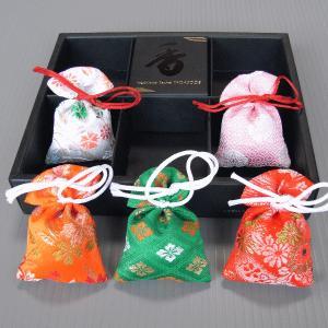 匂い袋5個セット 香りの贈り物 清楚な香りの匂い袋 香りのインテリア ジャパニーズサシェ|kameya