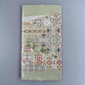 正絹 西陣 袋帯 振袖 江戸褄 訪問着 付下帯 31×460cm 唐草 唐花 鳳凰模様 踊り帯|kameya