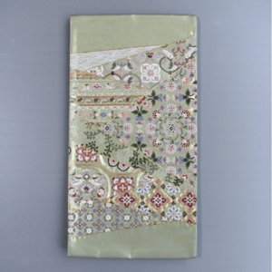 正絹西陣袋帯(幅31cm×長さ460cm・唐草・唐花・鳳凰模様) 踊り帯 日本舞踊 歌舞伎 舞台 ステージ用帯 着物 和装 成人式帯 舞子 引きずり着物用帯 kameya