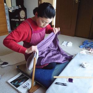 道行コートのお仕立(納期約35日) 熟練の和裁師による国内手縫い仕立 湯のし 防水加工 裏地などオプション手配|kameya