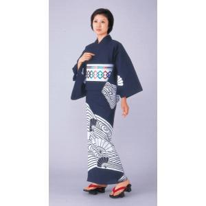 浴衣 ゆかた 反物 レディース メンズ 盆踊り 祭り ユカタ 踊り 絵羽浴衣 地染め 紫紺 流水 扇|kameya