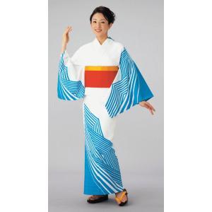 浴衣 ゆかた 反物 レディース メンズ 盆踊り 祭り ユカタ 踊り 絵羽浴衣 変織 波|kameya