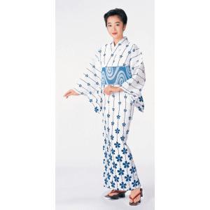 浴衣 ゆかた 反物 レディース 女物 盆踊り 祭り ユカタ 踊り 付下げ浴衣 注染 白地 桜|kameya