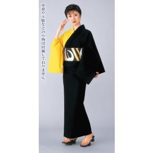 浴衣 ゆかた レディース 女物 盆踊り 祭り ユカタ 踊り 片身替わり 無地 カラー浴衣 黒 黄|kameya