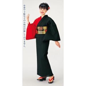 浴衣 ゆかた レディース 女物 盆踊り 祭り ユカタ 踊り 片身替わり 無地 カラー浴衣 黒 赤|kameya