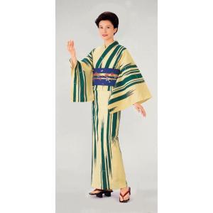 本染浴衣の反物(竹) 盆踊り 夏祭り 花火大会 イベント まつり用浴衣反物 旅館ゆかた着尺 お揃いゆかた反物|kameya