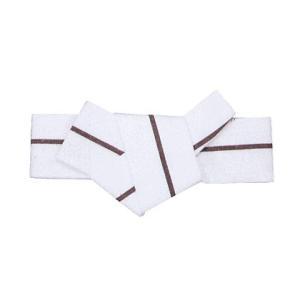 軽装仕立帯(幅8.5cm×胴回り95cmまで対応・男物/一本縞/白・エンジ) あらかじめ貝の口に結んだ男角帯 着物 浴衣 半纏用男帯 男性用和装帯 kameya